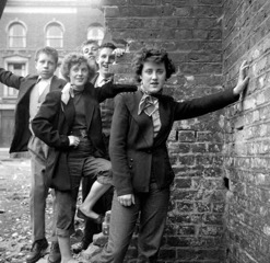 Teddy girls, London, 1953