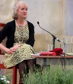 Virginia on the platform at the Charleston Festival, 2015