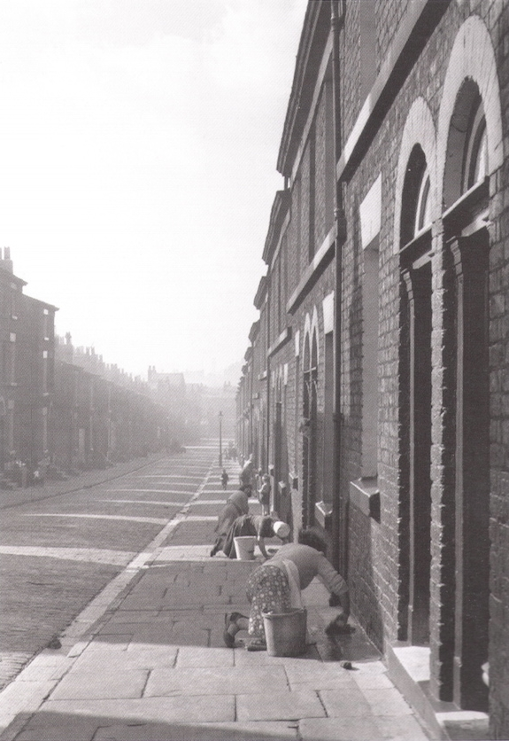 Donkey-stoning: a daily spectacle in working-class neighbourhoods in the 1950s.