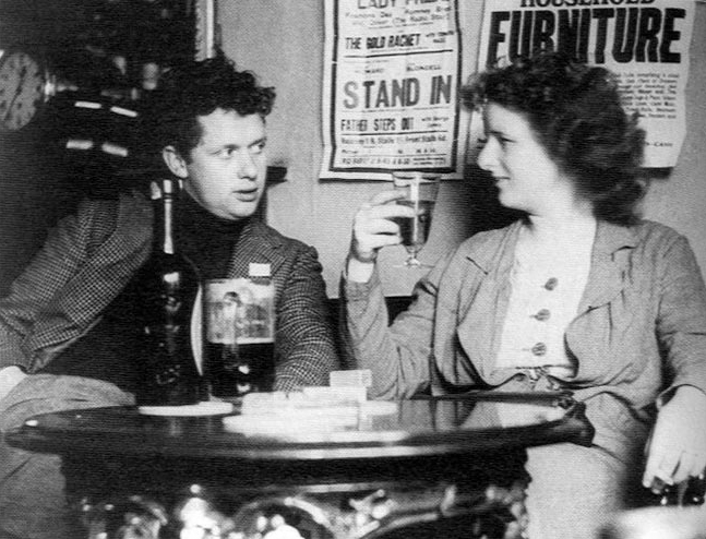 Dylan and Caitlin Thomas in their natural habitat, around 1938.