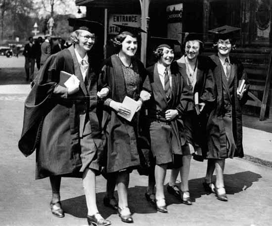 Women graduates, 1920s.