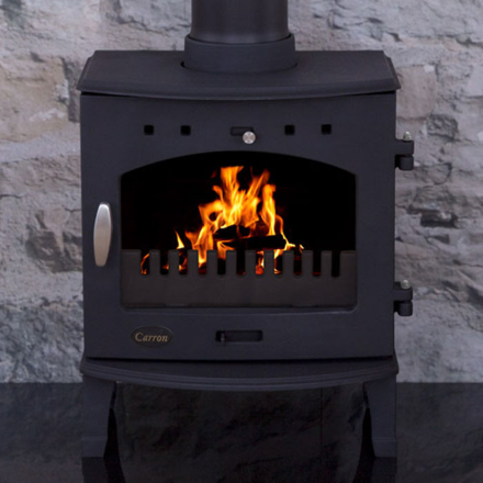 Carron - Carron cast iron stoves are made and assembled in rural Lincolnshire. All of their stoves are multi-fuel and DEFRA Approved allowing for installation into any home in a smoke control zone. Available both in cast iron and 11 different enamelled colours to match any style of room. All Carron Stoves come with a 3 year warranty.