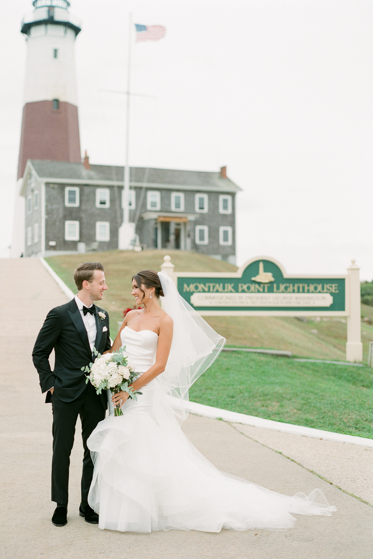 Montauk Lighthouse Bride and Groom Wedding Photos