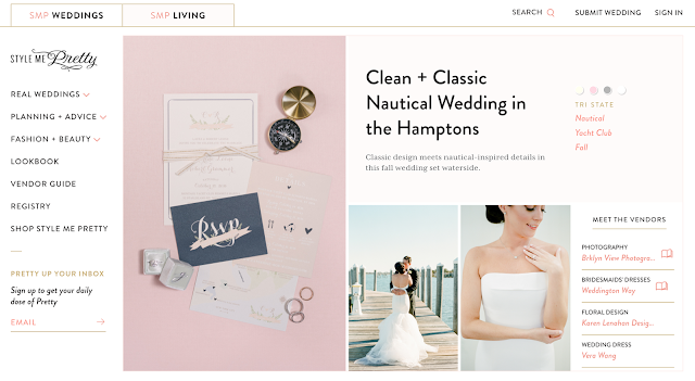 Style Me Pretty Front Page Featured Wedding