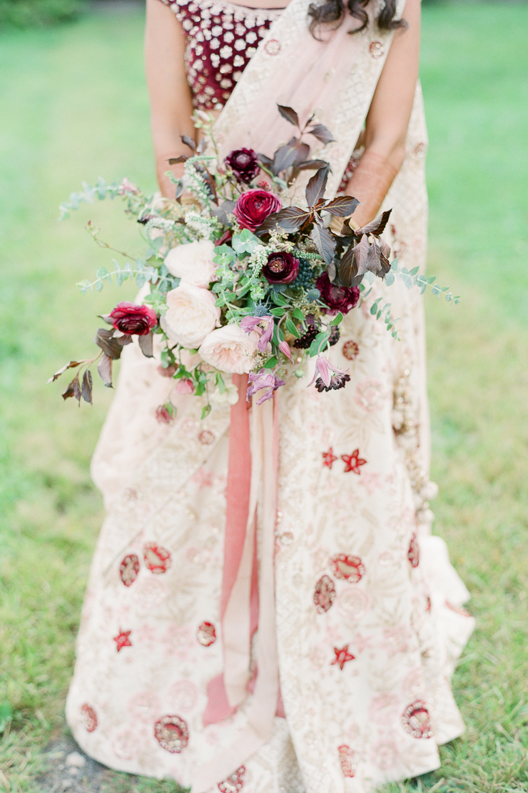 Berry Hue Wedding Bouquet