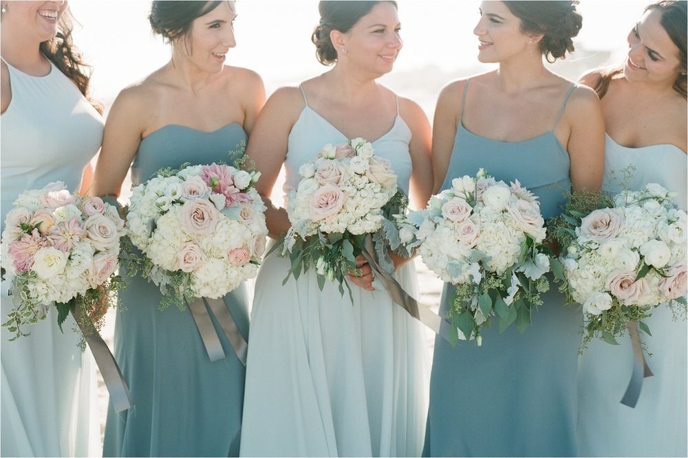 Bridesmaids Light Blue Dresses