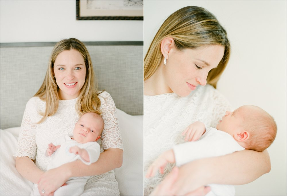 New Momma and Baby Photos in Home Newborn Session