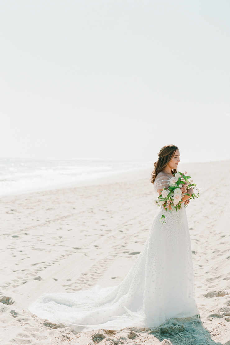 Bridal Portrait on Beach at Gurneys Montauk