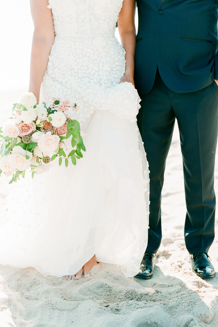 Bride and Groom Toes in Sand Gurneys Montauk Wedding Photos