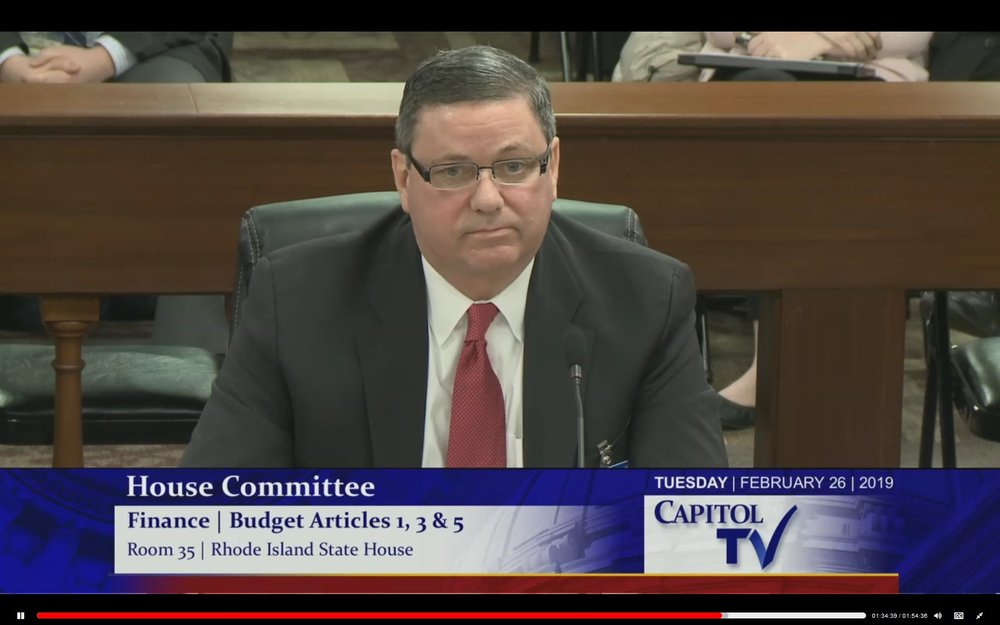 Tom Papa in Rhode Island House Committee on Finance