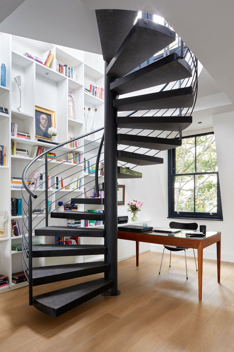 STAIRCASE AND BOOKCASE