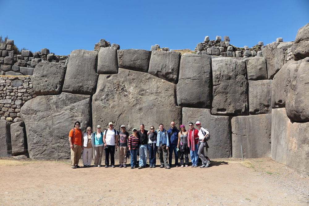 Cusco 2nd day - us hanging out by 110 ton stone.jpg