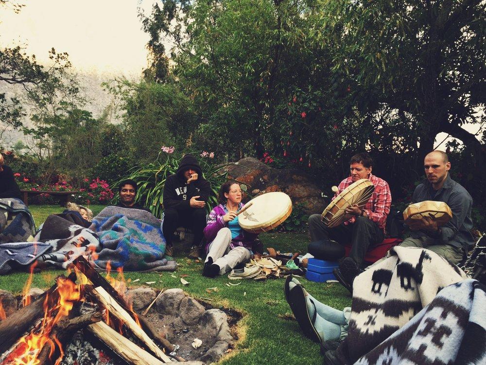 Morning Fireside San Pedro Ceremony Icaro's