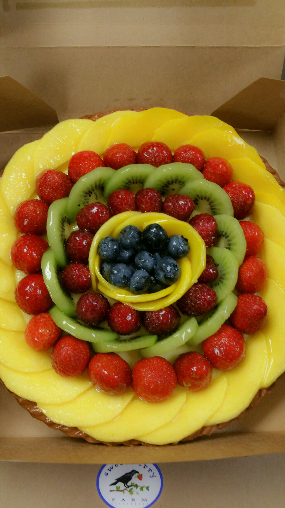 Sweet Berry Farm fruit tart