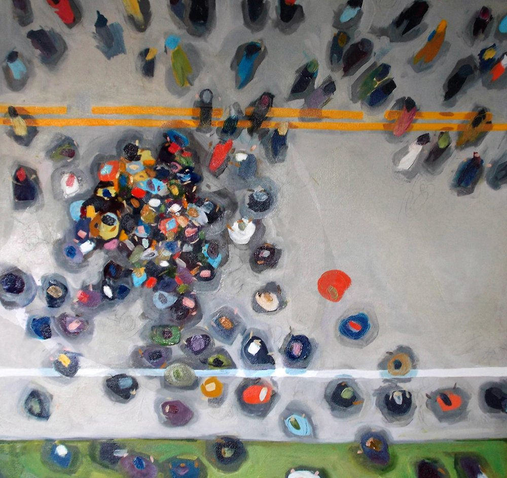 Miranda Updike, Gathering Crowd IV, 50x66, oil, $3500 (2).JPG