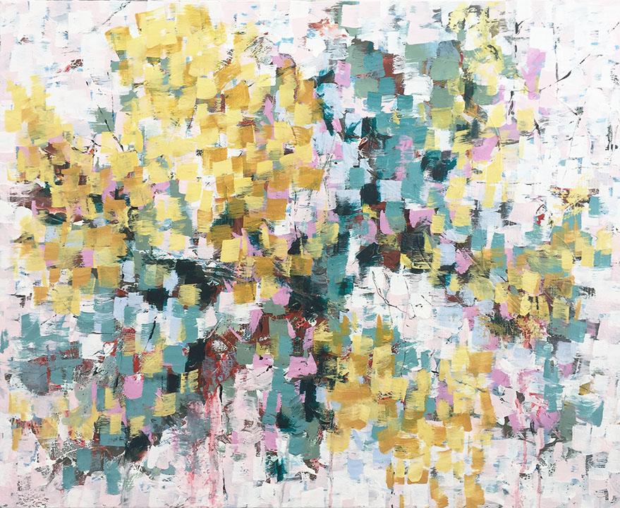Cadenza VI 24x30, acrylic on canvas, $1800