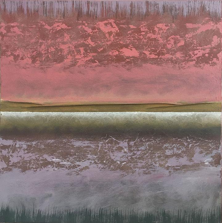 Adagio XXVIII 24x24, oil and mixed media on canvas, $1500