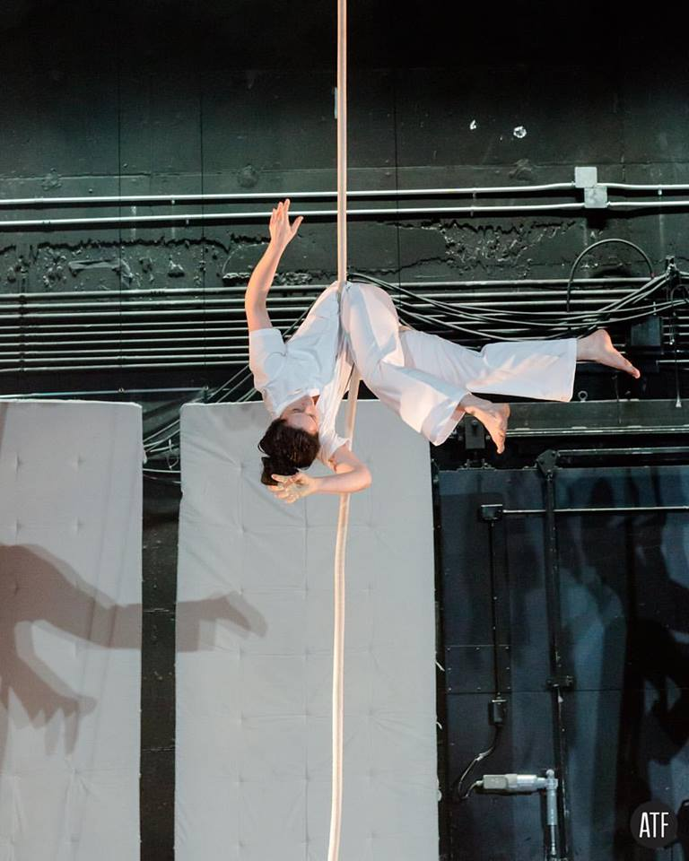 "Only Child Aerial Theatre's ""ASYLUM"" at NYU Skirball Center for Performing Arts 2017, after over a decade of trial and error in search of a creative process and movement practice that would result in the kind of work that I love... Photo by Andrew T Foster"
