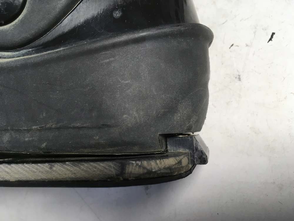 Notch cut in back of boot & positioning.