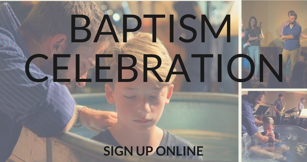 Baptism Registration - Sign up here.