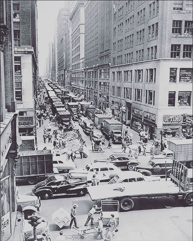 This would have been our view 70 years ago! #tbt to 36th Street in the Garment District in 1948. It's amazing to work in a place with such a rich history.