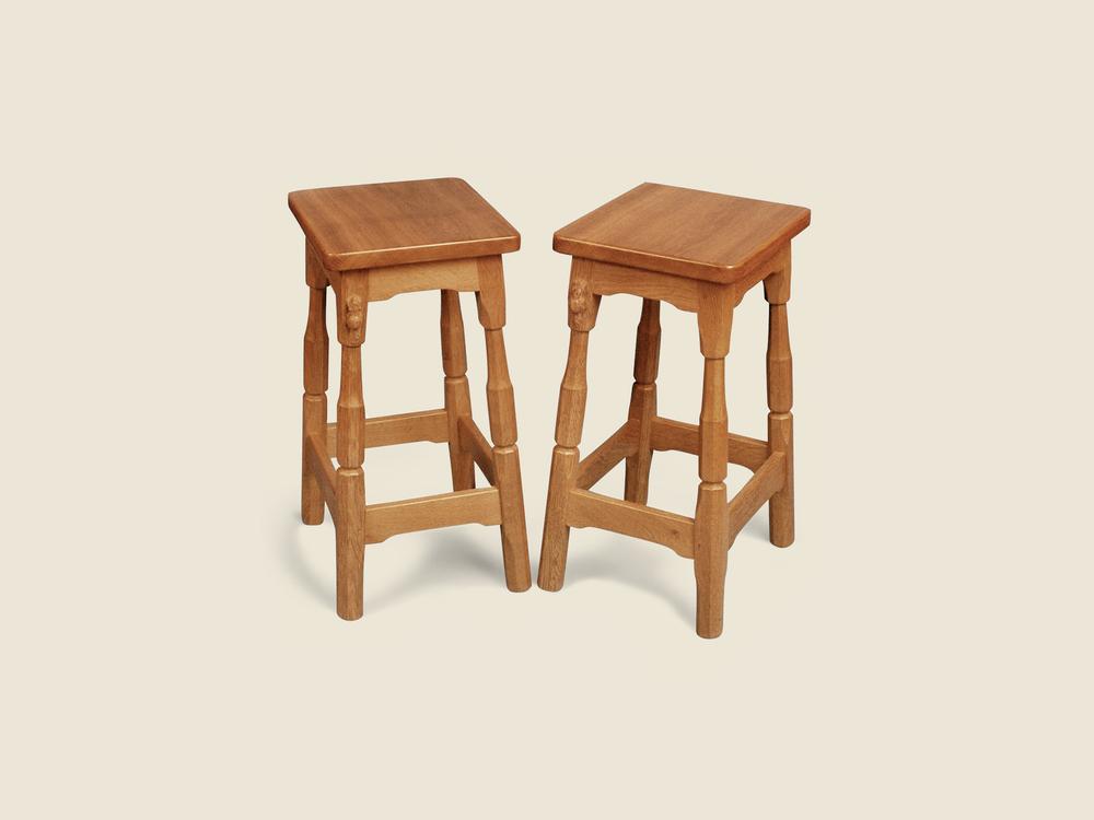 BF217 Solid Oak Solid Oak Breakfast Bar Stool with Wooden Seat