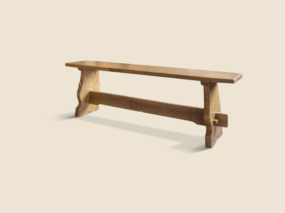 BF220 Solid Oak Refectory Style Bench