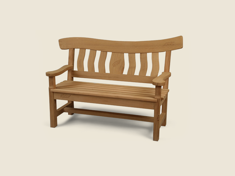 BF223 Solid Oak Garden Bench