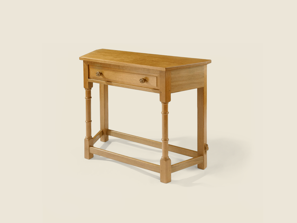 BF1003 Solid Oak Canted Hall Table