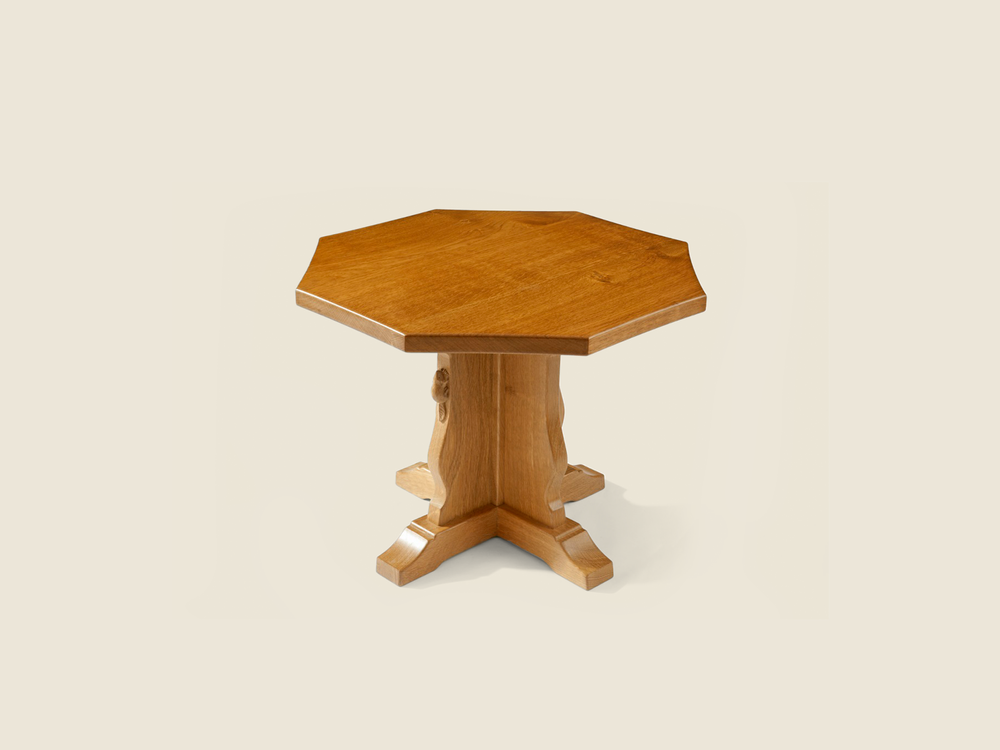 BF1005 Solid Oak Octagonal Occasional Table