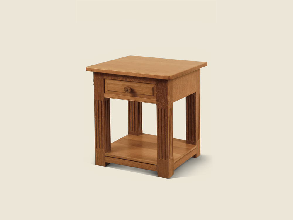 BF1012 Solid Oak Square Occasional Table