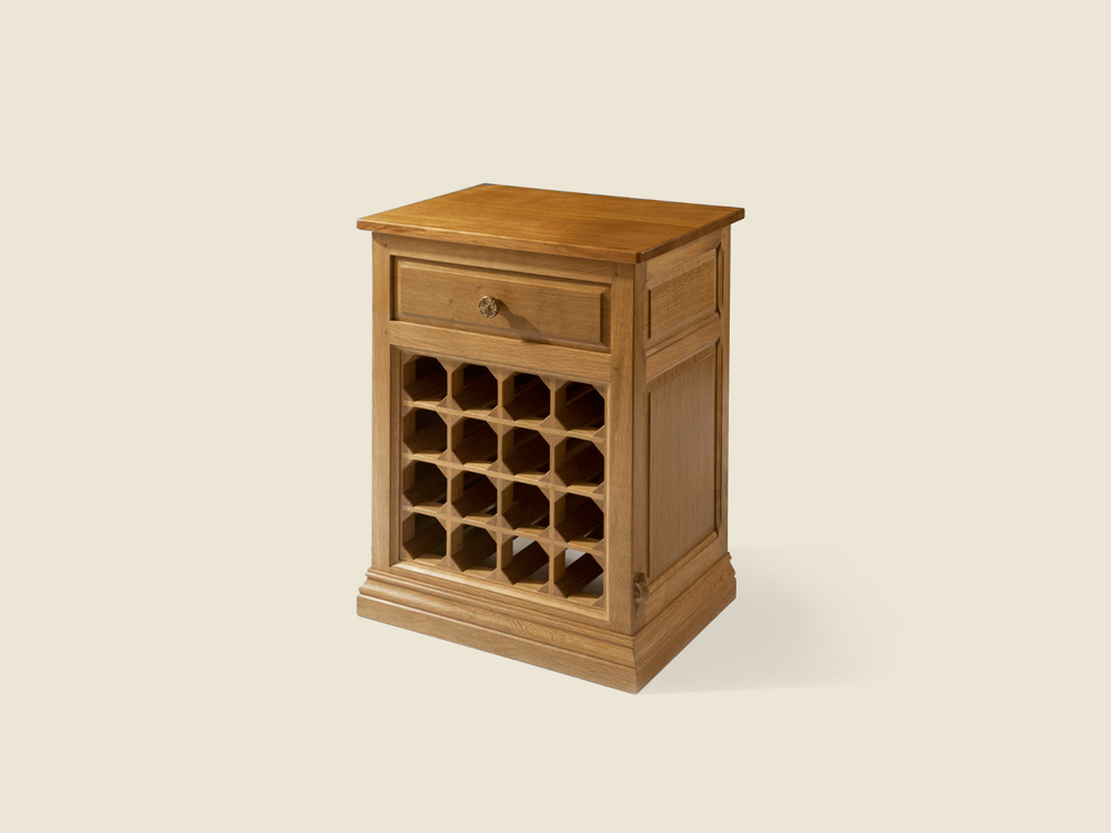 BF601 Solid Oak Wine Cabinet
