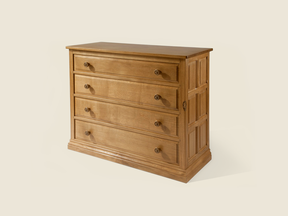 BF602 Solid Oak Chest of Drawers (4 Drawers)