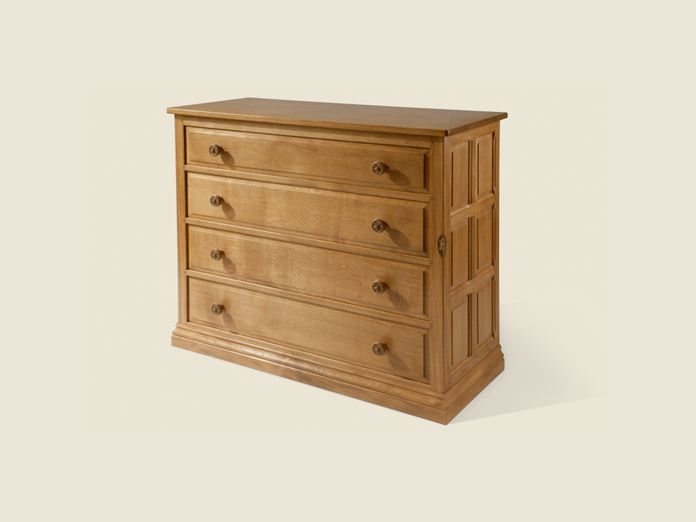 BF602 Oak Four Drawer Chest
