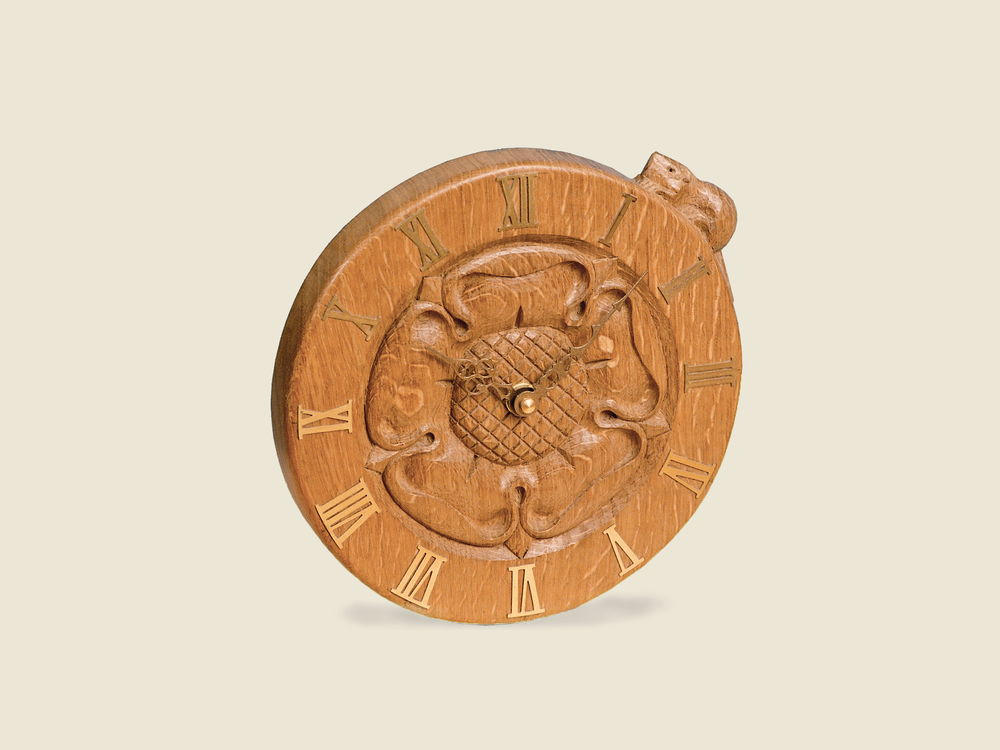 Yorkshire Rose Clock