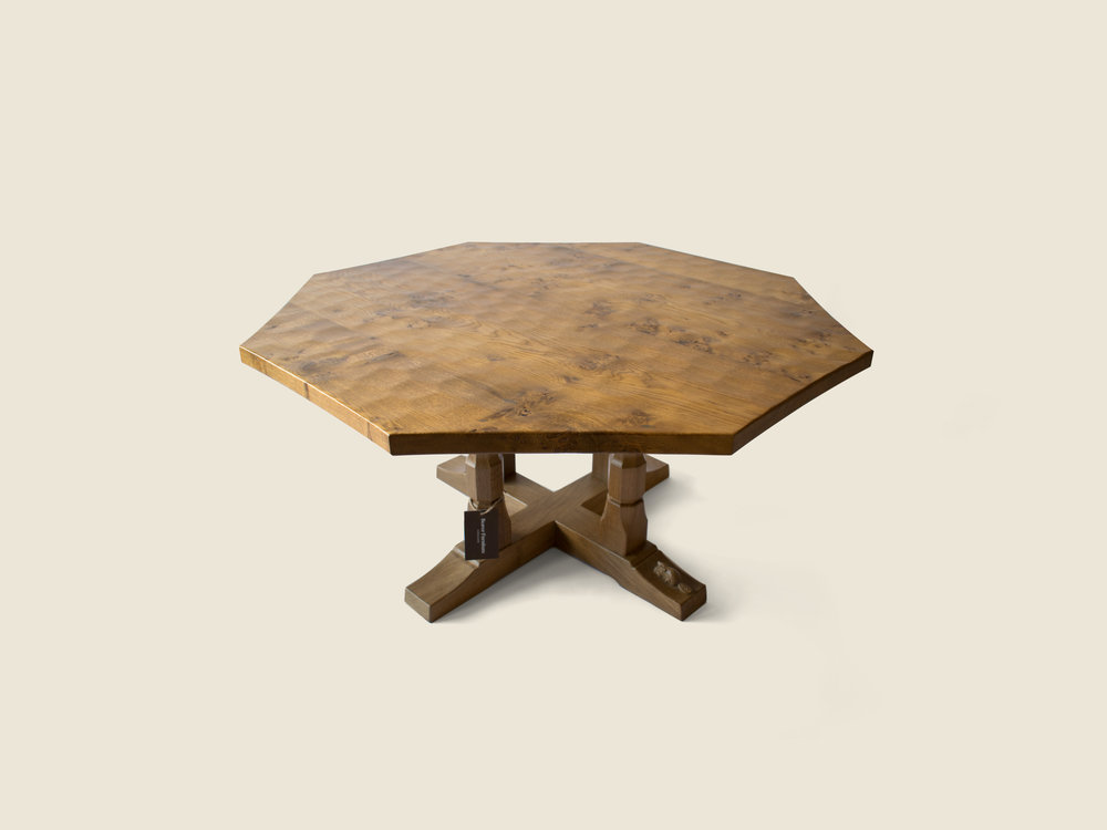 BF1004 Burr Oak Octagonal Occasional Table