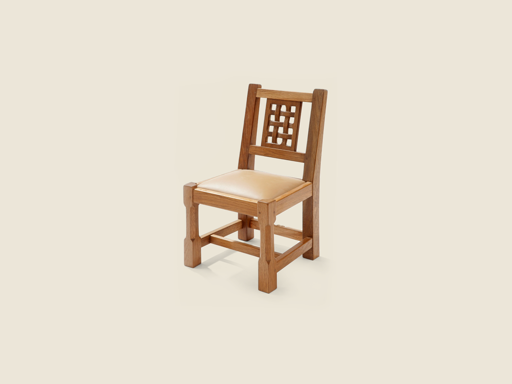 BF222 Solid Oak Miniature Lattice Back Chair