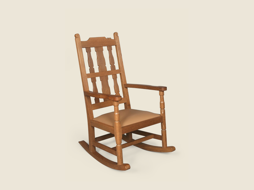 BF221A Solid Oak Rocking Chair