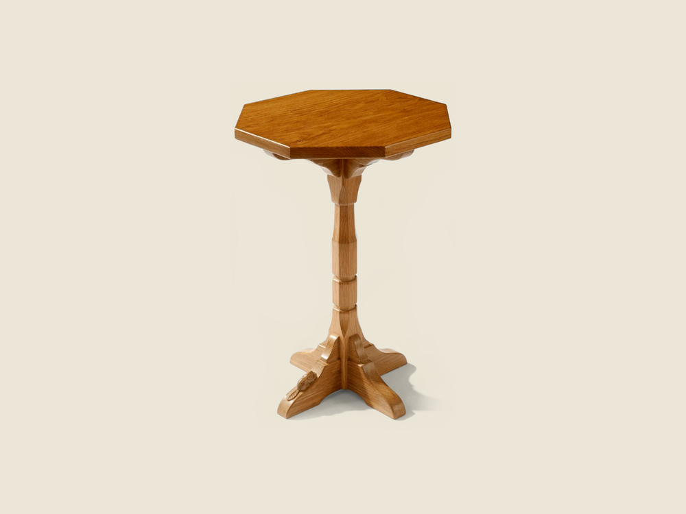 BF1006 Solid Oak Octagonal Drinks Table