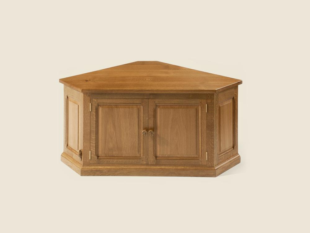 Oak Low Corner Cabinet