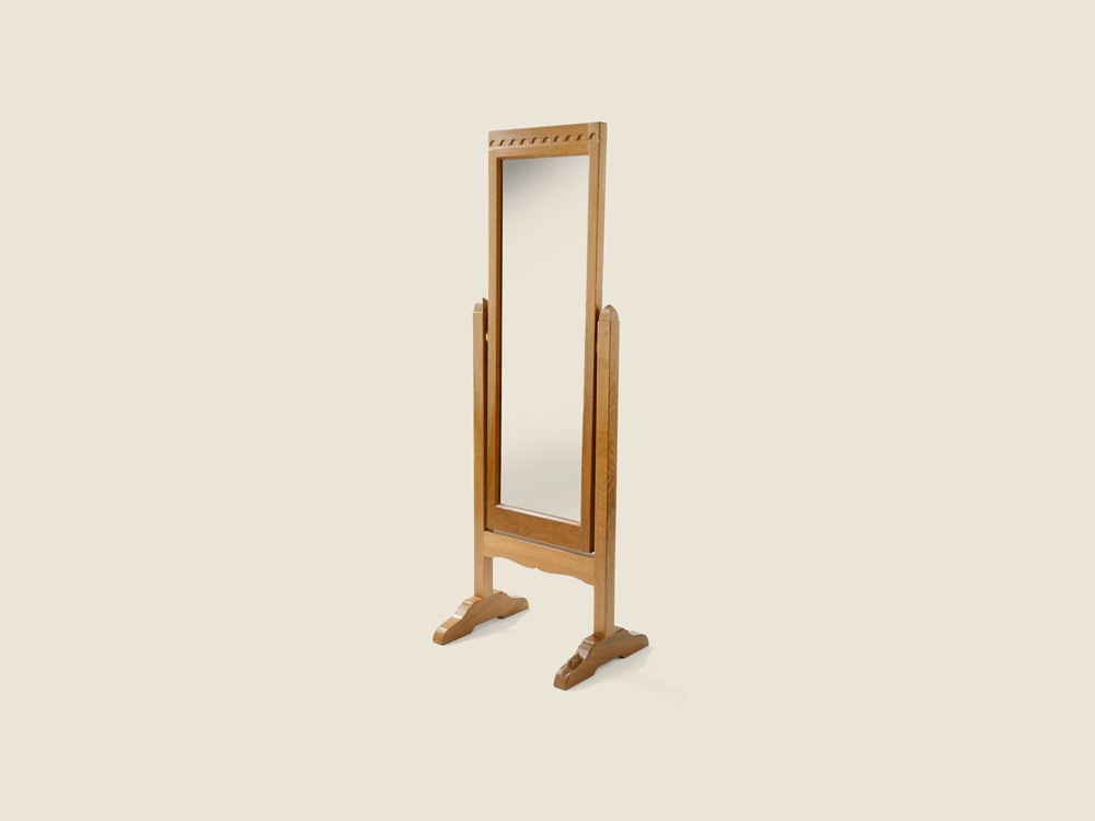 BF708 Oak Dressing Mirror