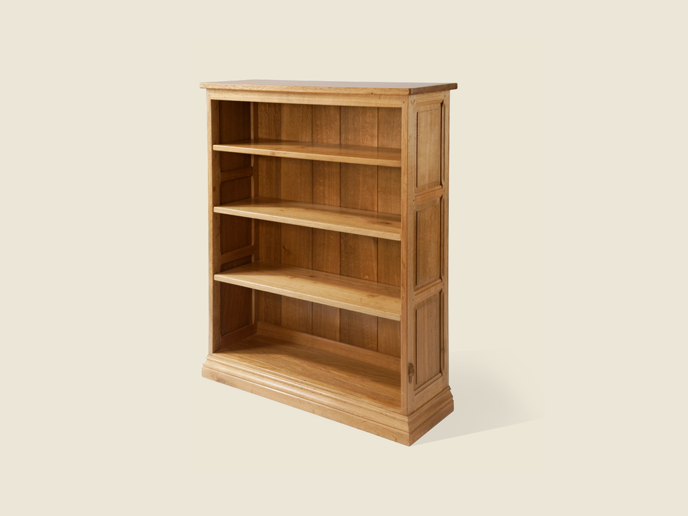 BF901 Solid Oak Panelled Bookcase