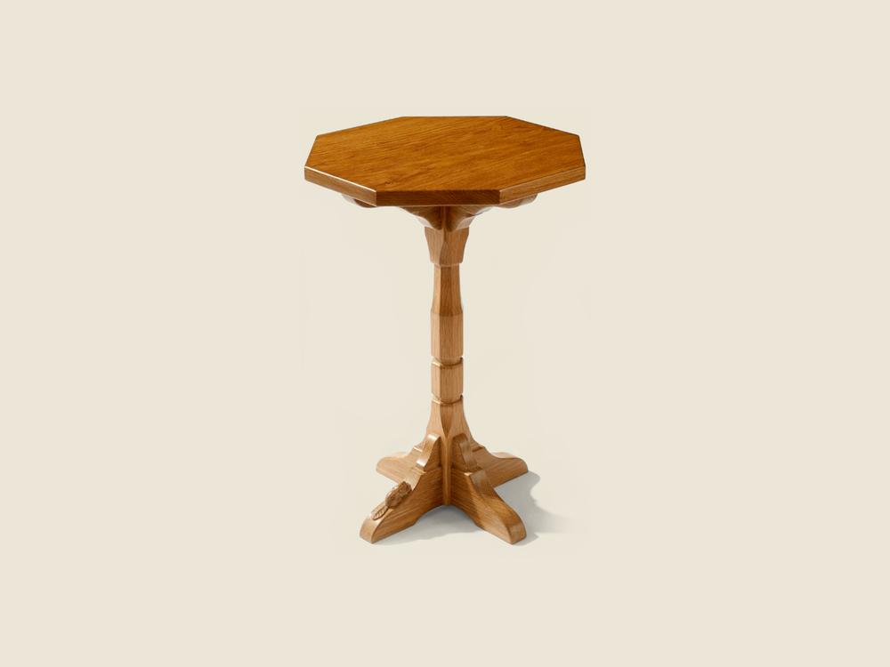 BF1006 Oak Octagonal Drinks table