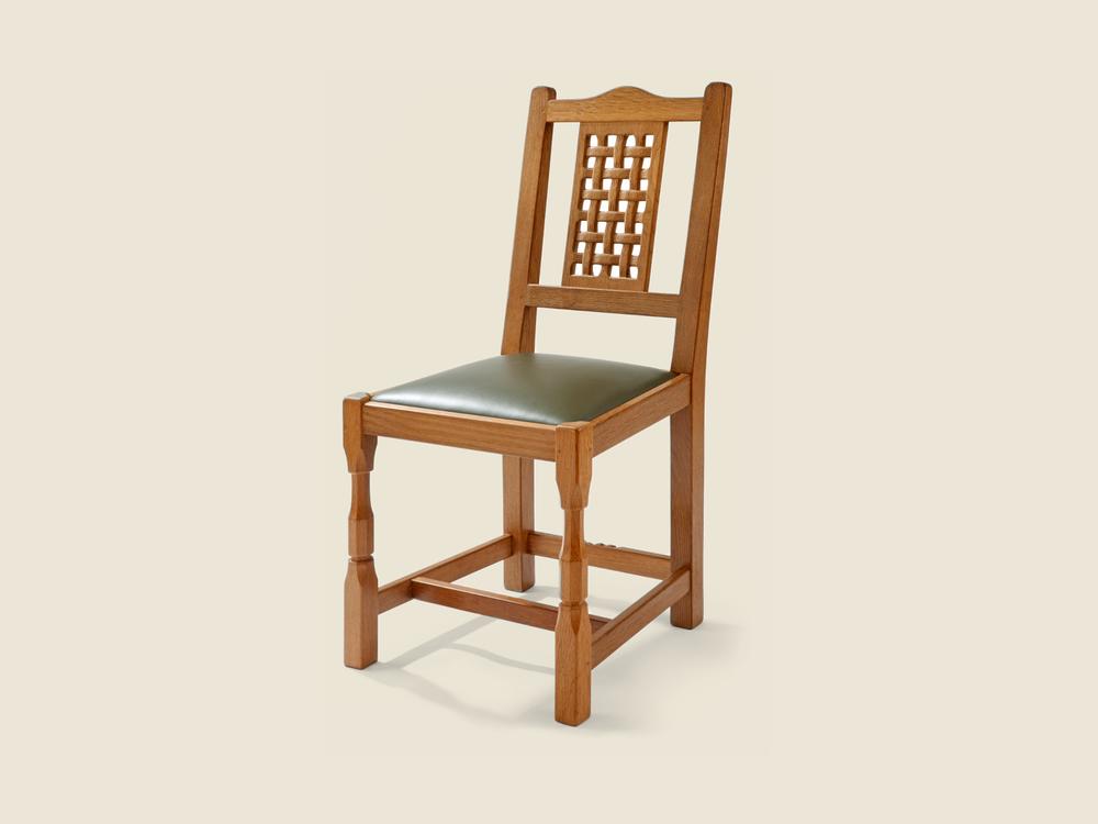 Oak Lattice Back Dining Chair