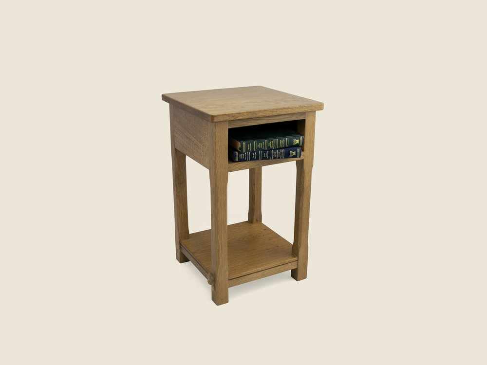 Occasional Oak Table with Open Front