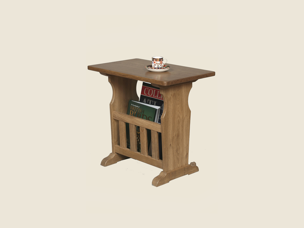 BF1008 Solid Oak Magazine Table