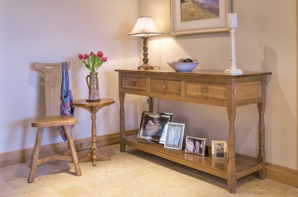 BF112 Solid Oak Hall Table