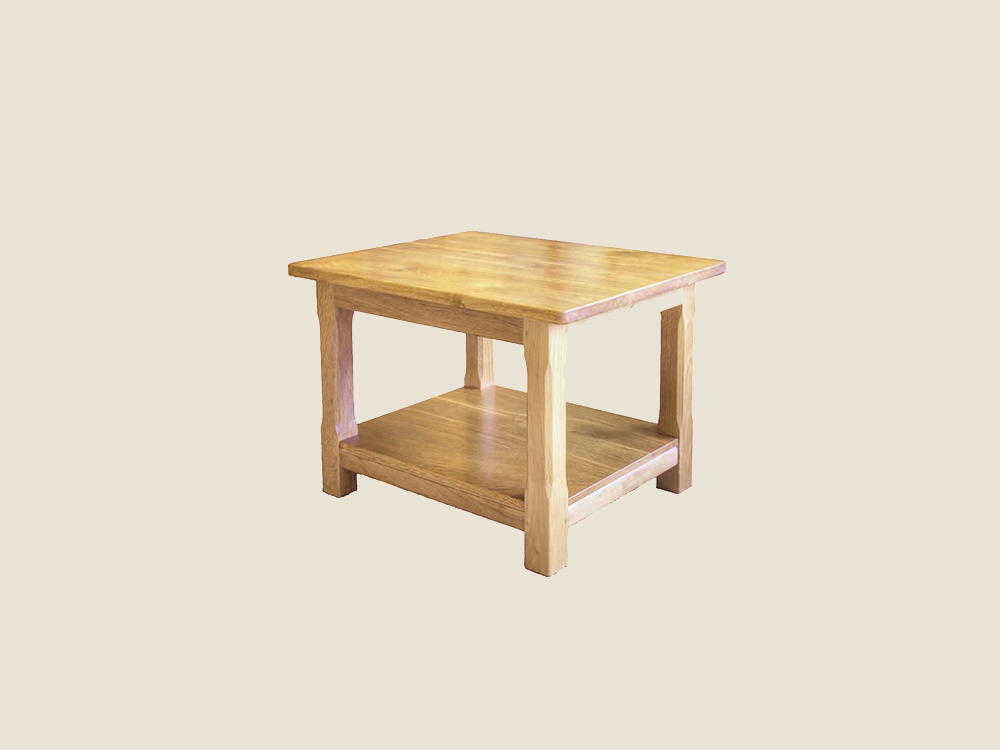 BF1016 Solid Oak Occasional Table with Shelf