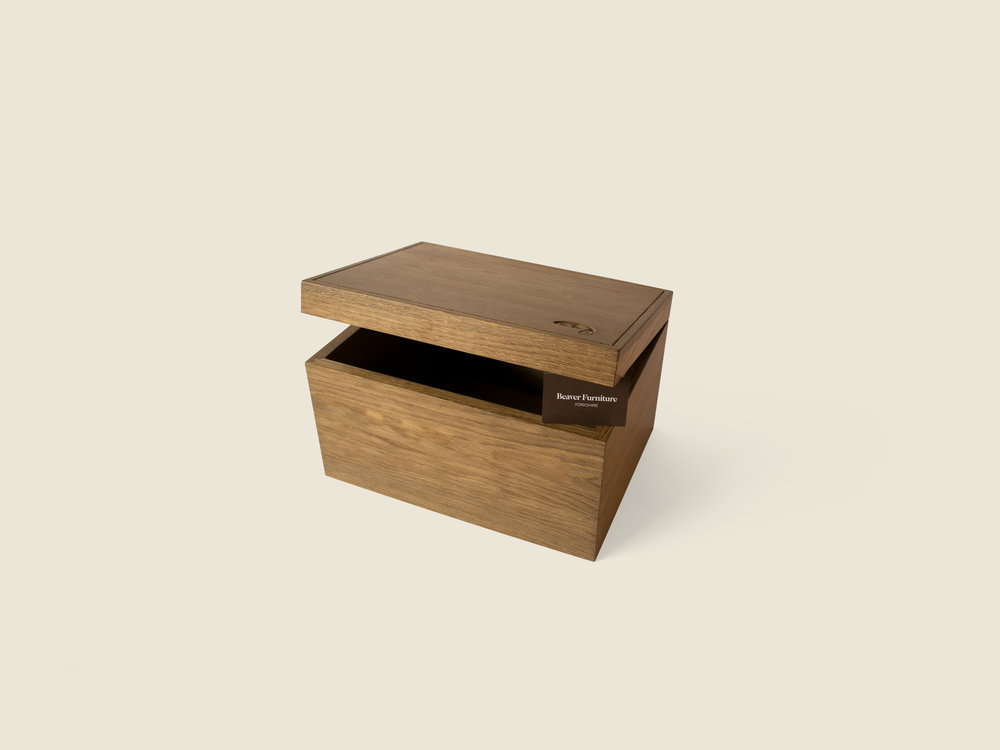 BF1109 Oak Keepsake Box