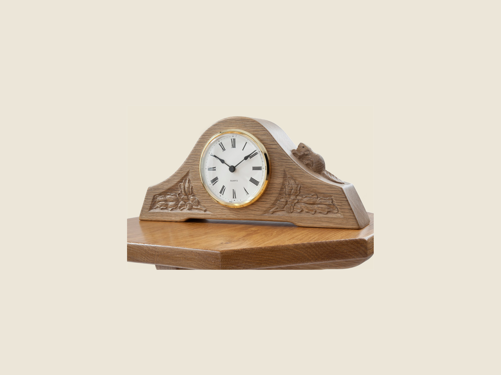 BF803 Oak Mantel Clock